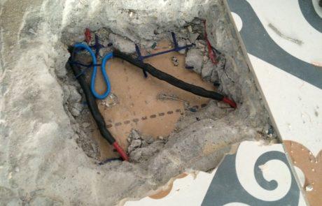 reparation sur cable chauffant électrique
